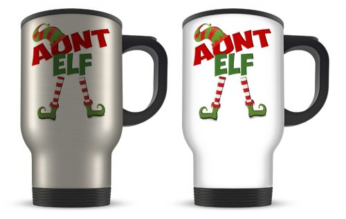 14oz Christmas Elf Funny Novelty Gift Aluminium Travel Mug